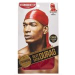 Red by Kiss Men's Premium Silky Satin Durag - RED